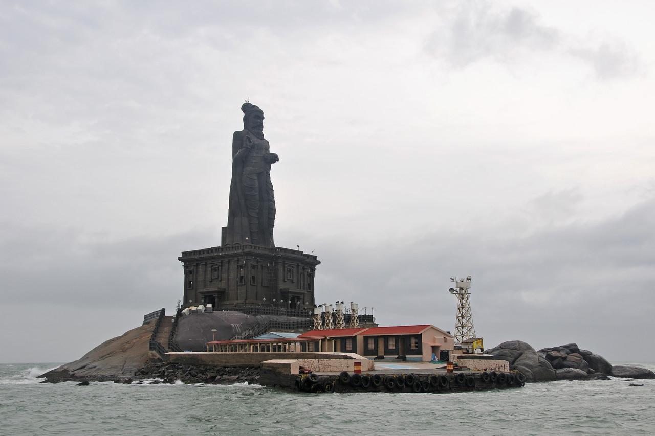 Statue of Tamil saint-poet Thiruvalluvar Kanyakumari, South India.