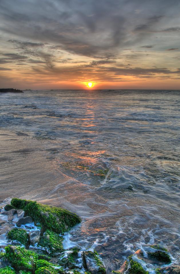 Sunrise at Kanyakumari, South India. Tonemapped image.