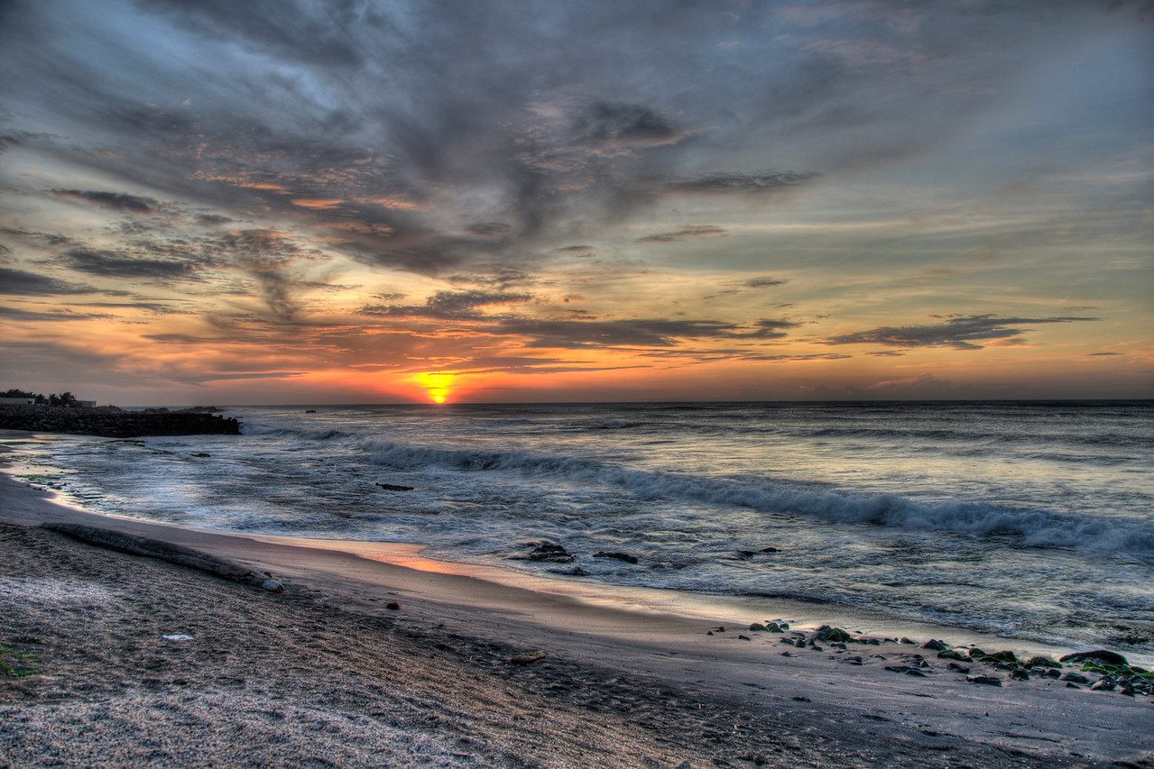 Dramatic Sunrise at Kanyakumari, South India.