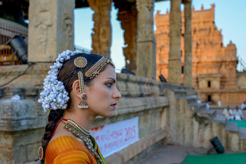 "Valérie Kanti Fernando, student of Sri Rajarajeswari Bharatha Natya Kala Mandir and disciple of Guru Harikrishna Kalyanasundaram, performed at the Brahan Natyanjali 2015, Big Temple, Thanjavur, Tamil Nadu, 19th February, 2015. <a href=""http://brahannatyanjali.in/"">http://brahannatyanjali.in/</a>"