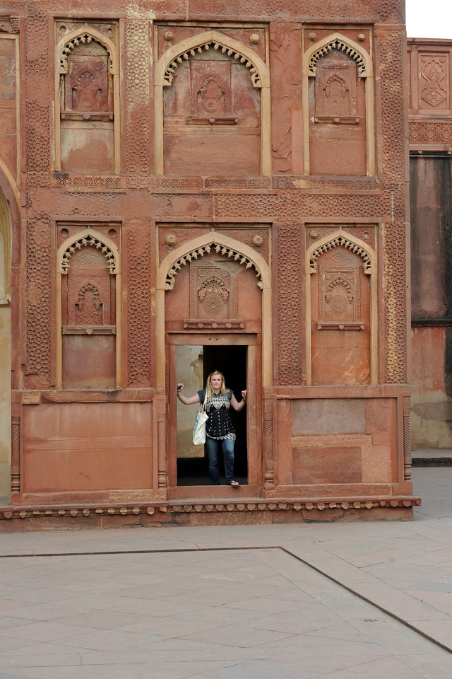 Agra Fort (Lal Qila) is a UNESCO World Heritage site. It is about 2.5 km northwest of the Taj Mahal. The fort can be more accurately described as a walled palatial city.