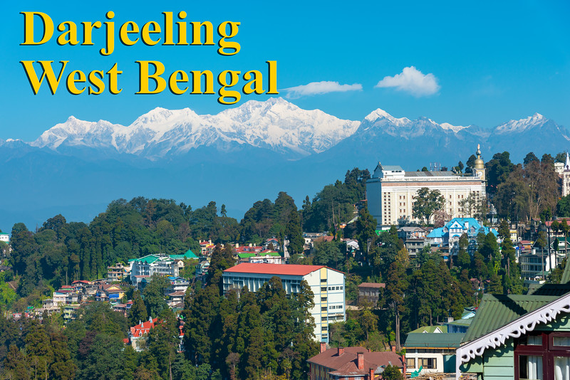 Darjeeling, West Bengal, North East India. is located at an elevation of 6,700 ft (2,042.2 m).