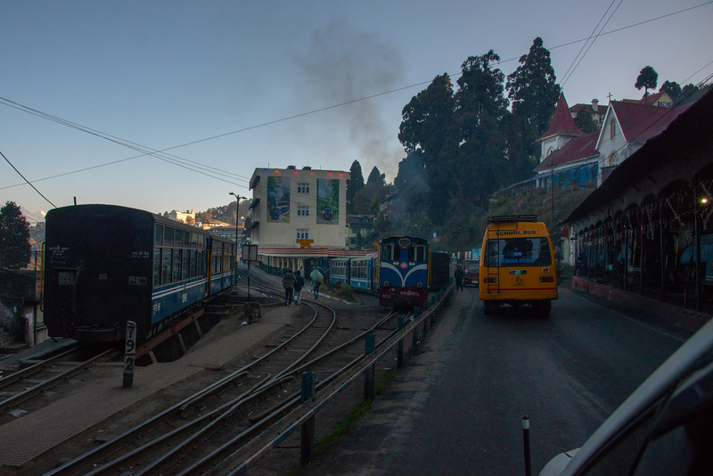 """Darjeeling, West Bengal, India is located at an elevation of 6,700 ft (2,042.2 m). Once a summer resort for the British Raj elite, it remains the terminus of the narrow-gauge Darjeeling Himalayan Railway, or """"Toy Train,"""" completed in 1881."""