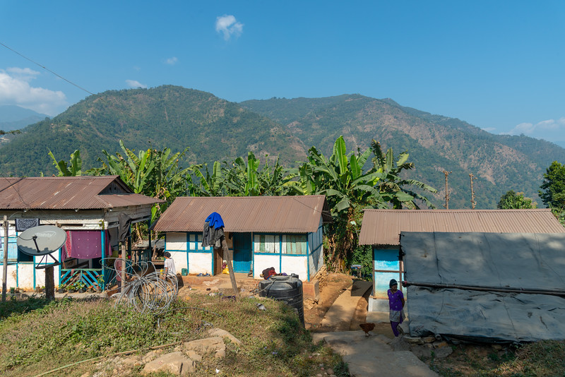 Village at Goke, West Bengal, North East India.