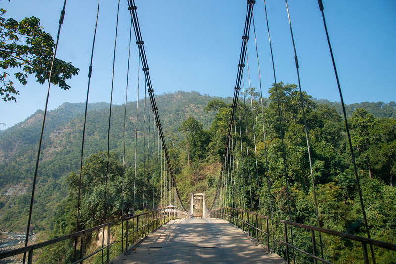 Bridge between the border at West Bengal and Sikkim on the Pulbazar-Jorethang Road. , North East India.