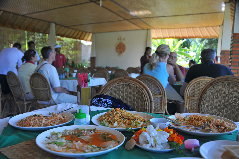 Had lunch at a restuarant which overlooks the lush green rice terrace in Bali, Indonesia.