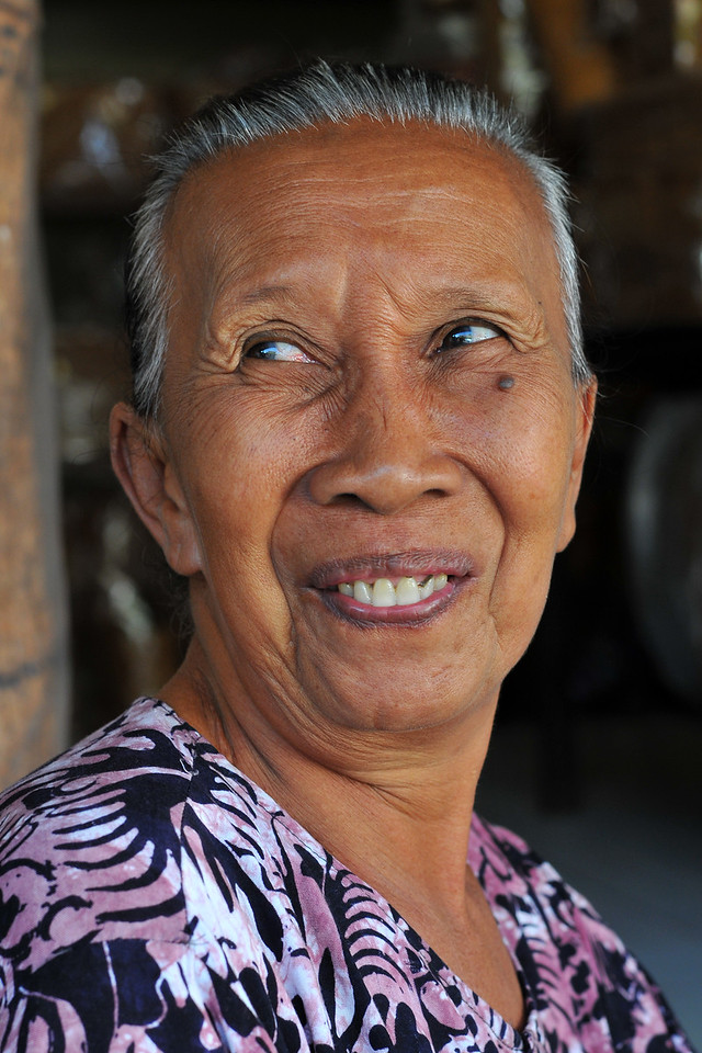 Portraits of the women in Bali, Indonesia.<br /> <br /> The men and women of Bali were soft, kind natured and quite friendly. Shy to some extent they always had a smile on their face. Tourism is a big industry and that reflects on all walks of life.<br /> <br /> Bali, Indonesia.