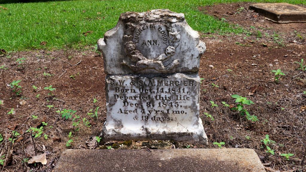 Grave of Lucretia Cordy Ann Mercier