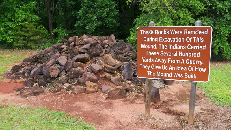 Mound E Rock Pile
