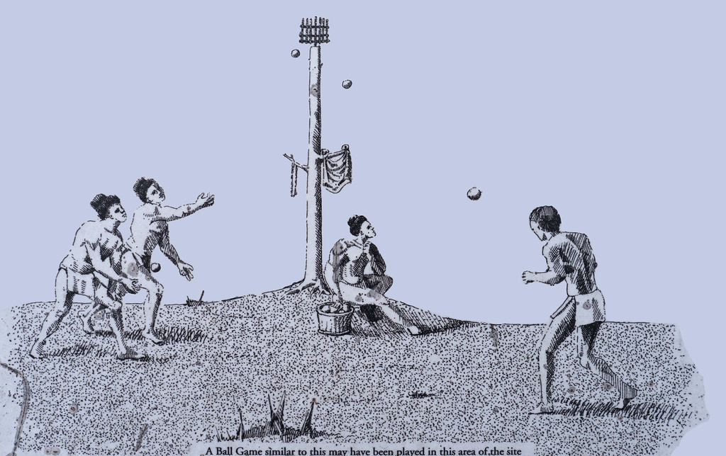 A Ball Game similar to this may have been played in this area of the site.