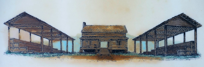 New Echota's First Council House