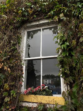 Reflection on a window.  Kinsale, Ireland, 2013.