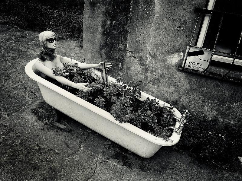 Dummy in a bathtub.<br /> <br /> Cobh, Ireland, 2013.