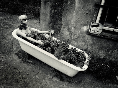 Dummy in a bathtub.  Cobh, Ireland, 2013.