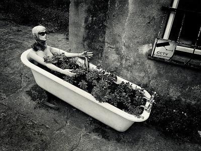 Dummy in a bathtub.  Cobh, Ireland, 2013.