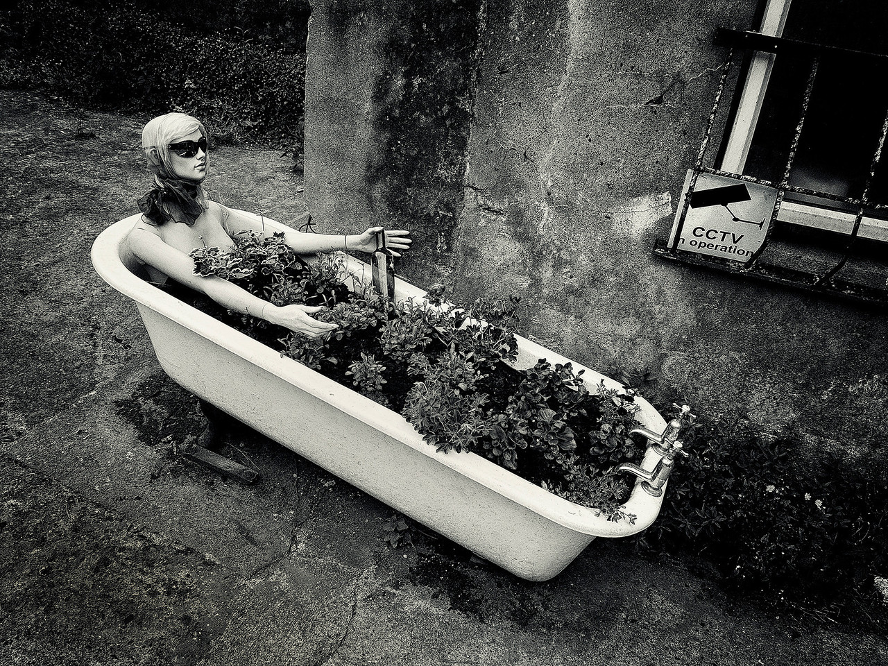 Dummy in a bathtub.<br /> <br /> Cobh, Ireland, 2013.