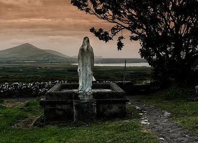 Holy Mary at a graveyard.  Ireland, 2013.