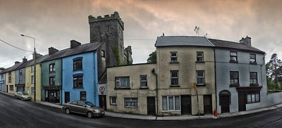 Houses on a street.  Ireland, 2013.