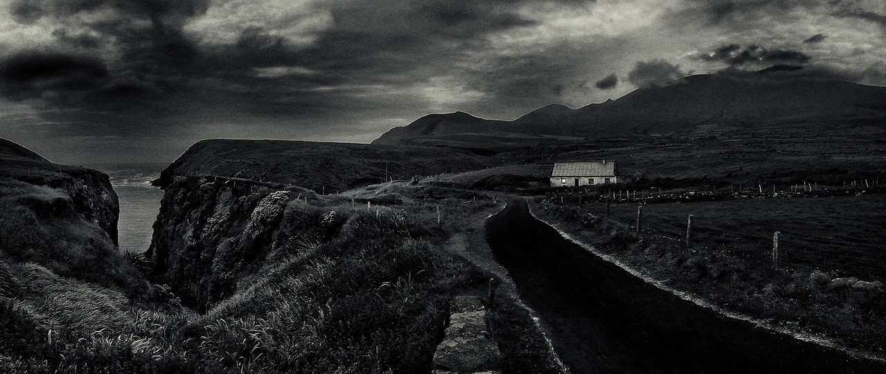 Lonely house by the side of the road.<br /> <br /> South West Ireland, 2013.