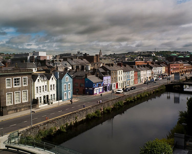 The River Lee as it flows past the city of Cork.  Ireland, 2013