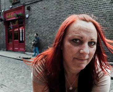 Irish woman.