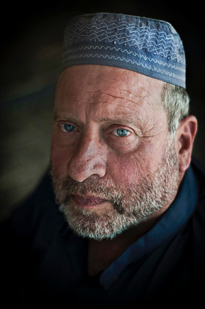 Jewish man turned muslim.  Jerusalem, Israel, 2012.