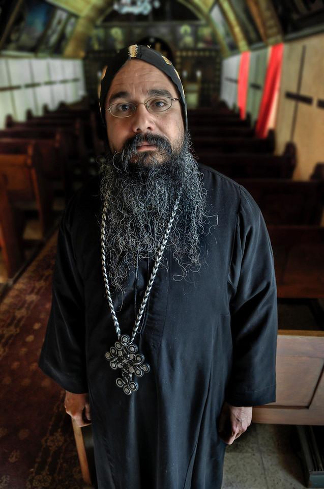 Egyptian Coptic Priest .<br /> <br /> Jerusalem, Israel, 2012.