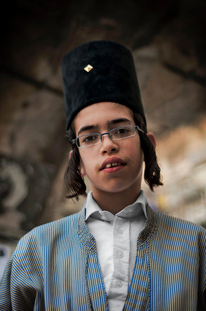 Portrait of a young man.  Mea Shearim, Jerusalem, Israel, 2012.
