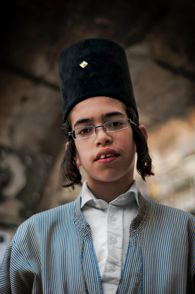 Portrait of a young man.<br /> <br /> Mea Shearim, Jerusalem, Israel, 2012.