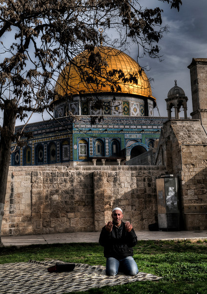 Until the mid-nineteenth century, non-Muslims were not permitted in the area. Since 1967, non-Muslims have been permitted limited access, however non-Muslims are not permitted to pray on the Temple Mount, or carry any form of religious artifact or anything with Hebrew letters. The Israeli police help enforce this.<br /> <br /> Jerusalem, Israel, 2012.