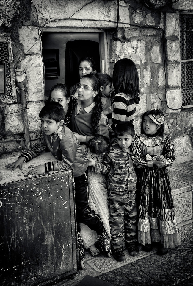 Jewish family during the festival of Purim.<br /> <br /> Jerusalem, Israel, 2012.
