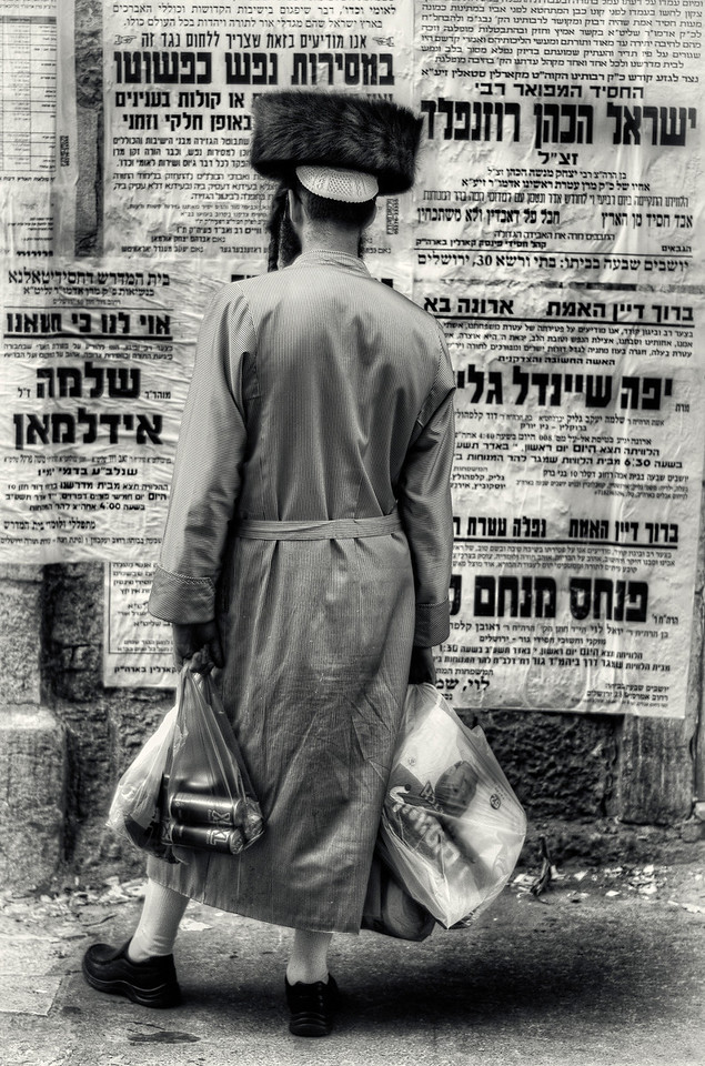 With no TV, radio or internet the residents of Mea Shearim rely on street advertising for local news and events mostly of a religious nature. <br /> <br /> Mea Shearim, Jerusalem, Israel, 2012.