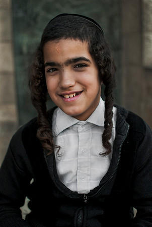 Portrait of a Jewish boy.  Mea Shearim, Jerusalem, Israel, 2012.