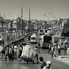 View of the Galata Bridge.<br /> <br /> Istanbul, Turkey, 2016.