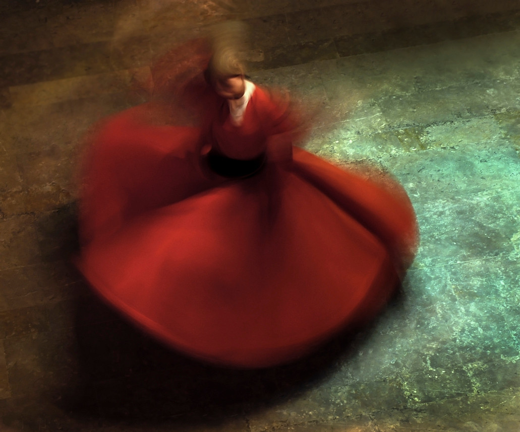The whirling dance or Sufi whirling that is proverbially associated with Dervishes, is the practice of the Order in Turkey, and is part of a formal ceremony known as the Sema. The Sema is only one of the many Sufi ceremonies performed to try to reach religious ecstasy (majdhb, fana). The name Mevlevi comes from the Persian poet, Rumi (born in Balkh, modern day Afghanistan), whose shrine is in Turkey and who was a Dervish himself. This practice, though not intended as entertainment, has become a tourist attraction in Turkey.<br /> <br /> Istanbul 2009.