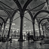 Getting the Blue Mosque ready for prayer.<br /> <br /> Istanbul, Turkey, 2016.