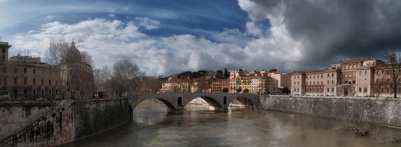 The Tiber River in Rome, Italy, 2015