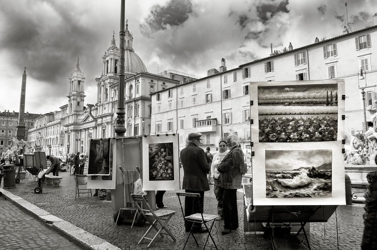 Street art gallery in Rome, Italy, 2015