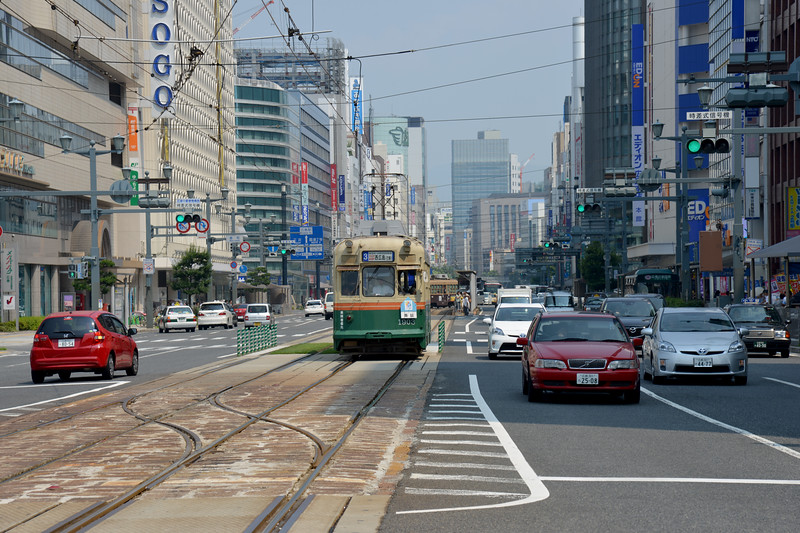 Public transport in Hiroshima. <br /> Hiroshima (広島市) is the capital of Hiroshima Prefecture, and the largest city in the Chūgoku region of western Honshu, which is the largest island of Japan. It is recongnized as the first city in history to be targeted by a nuclear weapon when the United States Army Air Forces (USAAF) dropped an atomic bomb on it at 8:15 a.m. on August 6, 1945, near the end of World War II. Hiroshima is situated on the Ōta River delta, on Hiroshima Bay, facing the Seto Inland Sea on its south side. The river's six channels divide Hiroshima into several islets.