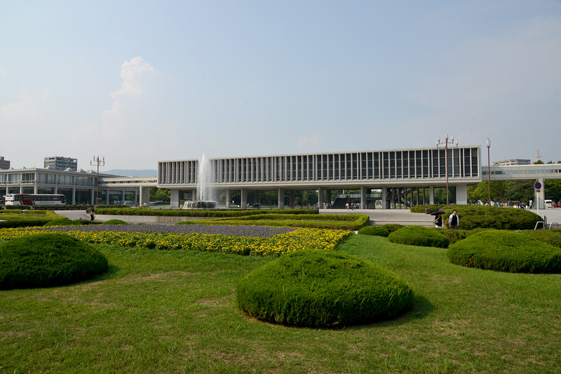 International Conference Center Hiroshima is in the Peace Park, west side of the main building of the Hiroshima Peace Memorial Museum.<br /> Hiroshima (広島市) is the capital of Hiroshima Prefecture, and the largest city in the Chūgoku region of western Honshu, which is the largest island of Japan. It is recongnized as the first city in history to be targeted by a nuclear weapon when the United States Army Air Forces (USAAF) dropped an atomic bomb on it at 8:15 a.m. on August 6, 1945, near the end of World War II. Hiroshima is situated on the Ōta River delta, on Hiroshima Bay, facing the Seto Inland Sea on its south side. The river's six channels divide Hiroshima into several islets.