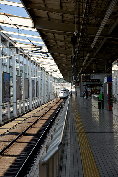 The Shinkansen (新幹線) (new trunk line) is a network of high-speed railway lines in Japan operated by four Japan Railways Group companies. Starting with the Tōkaidō Shinkansen (515.4 km) in 1964, the network has expanded to currently consist of 2,387.7 km (1,483.6 mi) of lines with maximum speeds of 240–320 km/h (149–199 mph).<br /> <br /> Kyoto (京都市) is a city located in the central part of the island of Honshu, Japan. It has a population close to 1.5 million. Formerly the imperial capital of Japan for more than one thousand years, it is now the capital of Kyoto Prefecture, as well as a major part of the Kyoto-Osaka-Kobe metropolitan area. With temples, parks, bustling business districts, markets, from regal estates to the tightly-packed neighborhoods, Kyoto is one of the oldest and most famous Asian metropolises. Although ravaged by wars, fires, and earthquakes during its eleven centuries as the imperial capital, Kyoto was spared from much of the destruction of World War II. With its 2000 religious places- 1600 Buddhist temples and 400 Shinto shrines, as well as palaces, gardens and architecture intact, it is one of the best preserved cities in Japan.