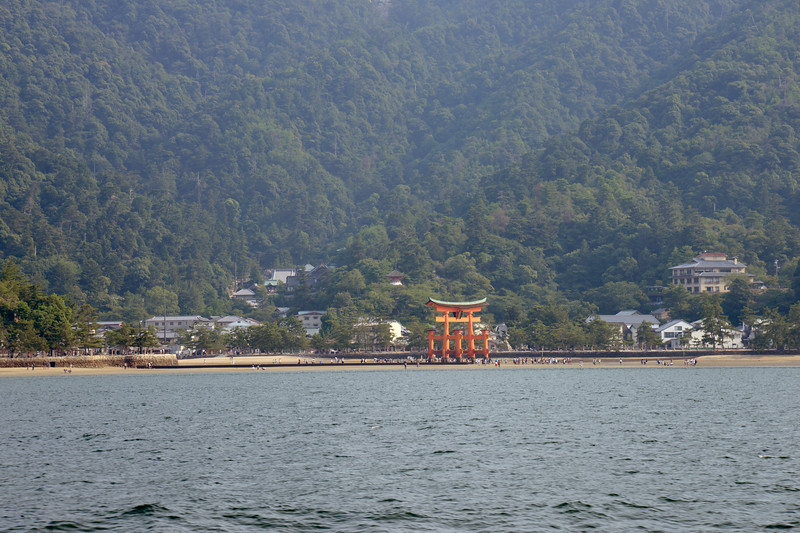 Itsukushima jinja was the chief Shinto shrine (ichinomiya) of Aki Province. The shrine has been destroyed many times, but the first shrine buildings were probably erected in the 6th century. The present shrine dates from the mid-16th century, and is believed to follow an earlier design from the 12th century.That design was established in 1168, when funds were provided by the warlord Taira no Kiyomori. Miyajima (宮島町) is a town located on the island of Itsukushima in Saeki District, Hiroshima Prefecture, Japan.