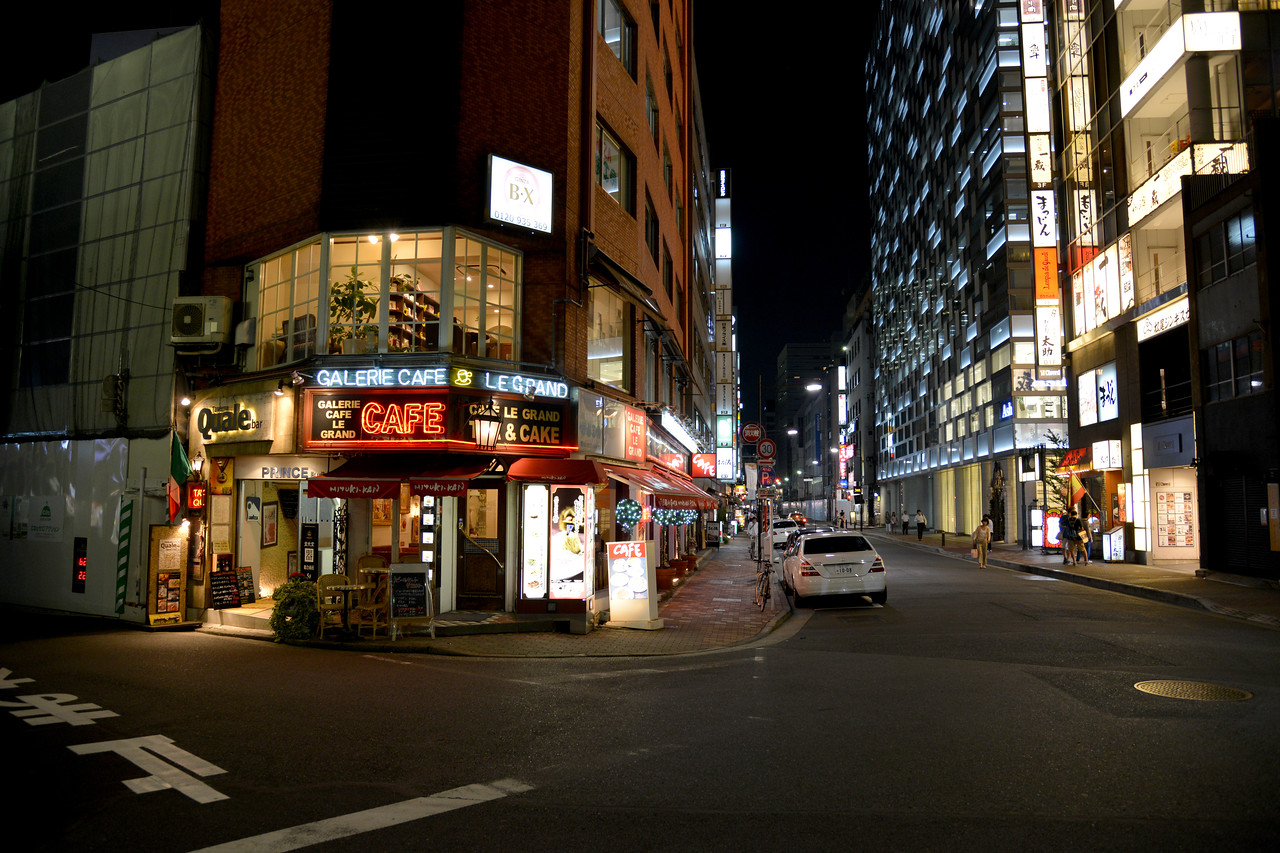 """Side lanes and cafe at Tokyo. Tokyo (東京 Tōkyō) """"Eastern Capital"""" is one of the 47 prefectures of Japan. Tokyo is the capital of Japan, the center of the Greater Tokyo Area, and the largest metropolitan area in the world. It is the seat of the Japanese government and the Imperial Palace, and the home of the Japanese Imperial Family. Tokyo is in the Kantō region on the southeastern side of the main island Honshu and includes the Izu Islands and Ogasawara Islands. Tokyo was originally a small fishing village named Edo  which means """"estuary""""."""