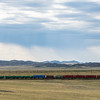 Train through the Kazakh steppe