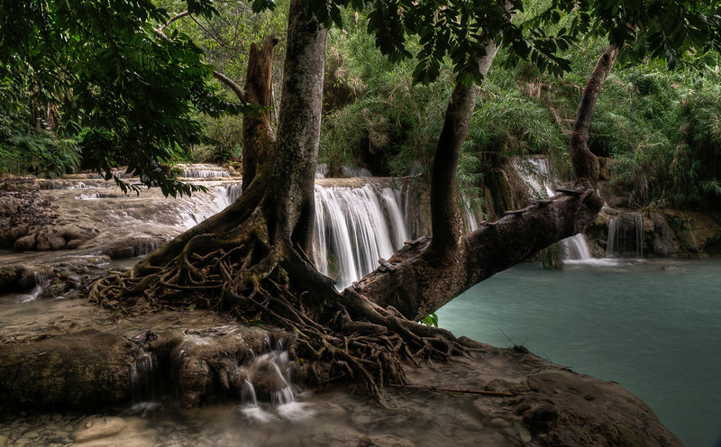 Kuang Si Falls.<br /> <br /> Luang Prabang, Laos, 2010
