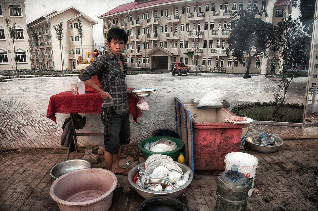 Street vendor.<br /> <br /> Vientiane, Laos, 2010
