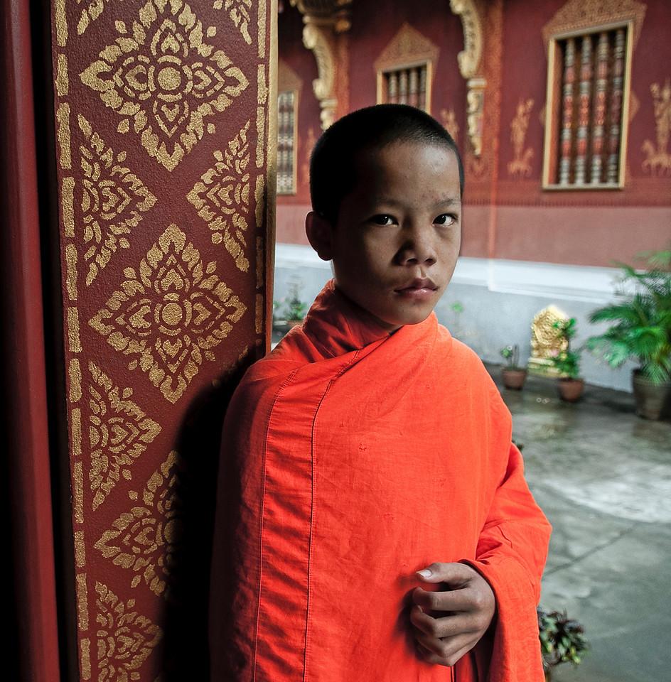 Young monk.<br /> <br /> Luang Prabang, Laos, 2010