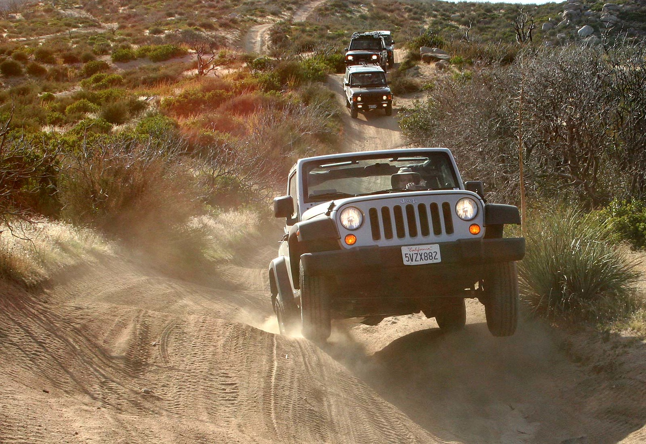 Wheels up!  The 2007 Wranglers now have traction control!