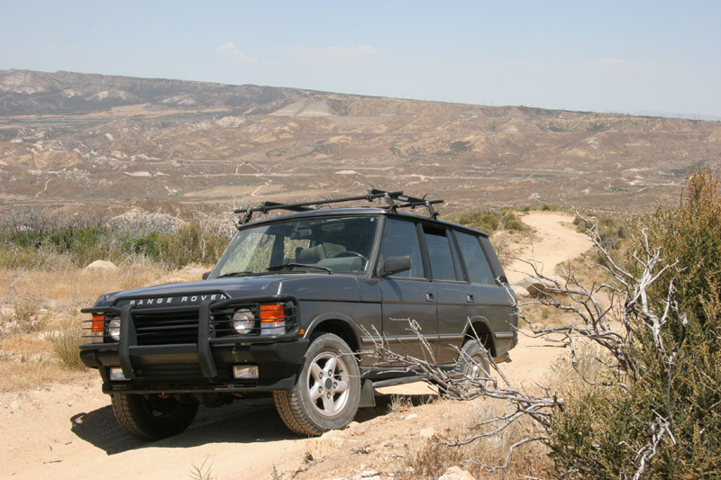 "Mel's trusty ""Trail Pig"", Land Rover 1995(?) Range Rover P38"