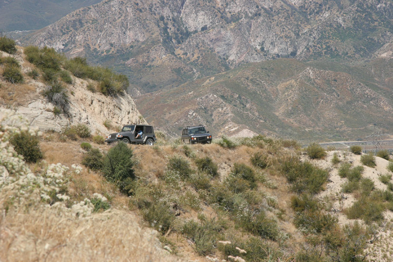 Climbing up Stage 1 of the Cleghorn Trail